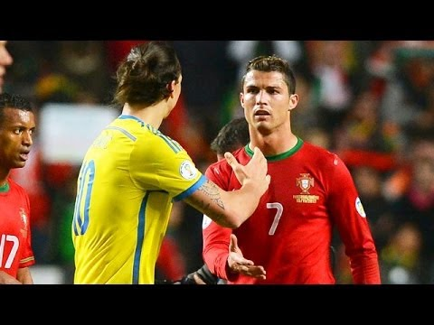 HD Sweden 2-3 Portugal Cristiano Ronaldo Hattrick Zlatan Ibrahimovic Goals 19 November 2013 1080p
