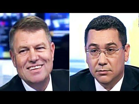 Video Prima CONFRUNTARE PONTA vs IOHANNIS HD Integral la REALITATEATV Dezbatere 11 noiembrie 2014