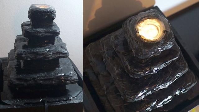 Fântână de cameră cu iluminare de la LIDL